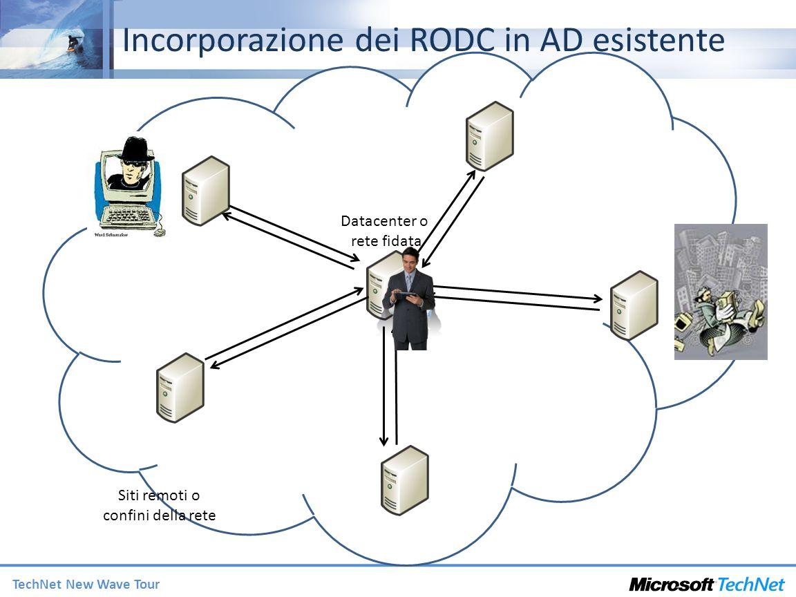 Incorporazione dei RODC in AD esistente