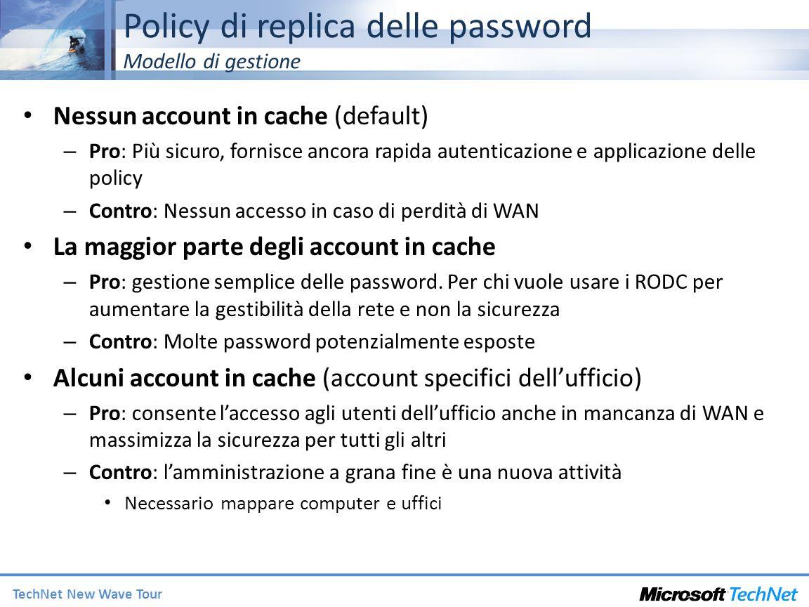 Policy di replica delle password Modello di gestione