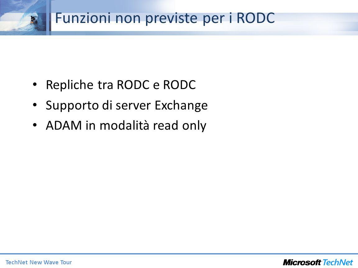 Funzioni non previste per i RODC