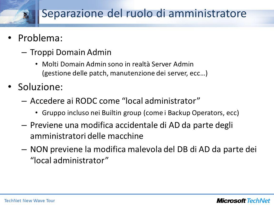 Separazione del ruolo di amministratore
