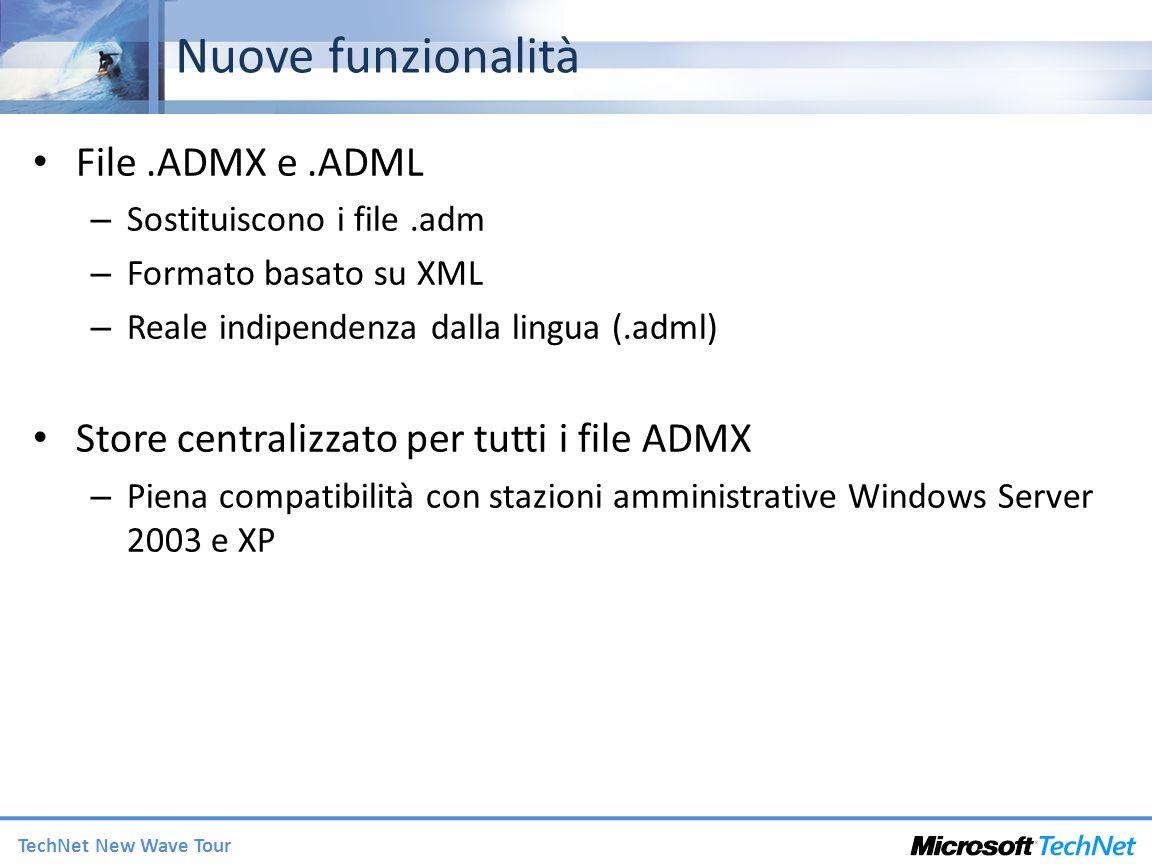 Nuove funzionalità File .ADMX e .ADML