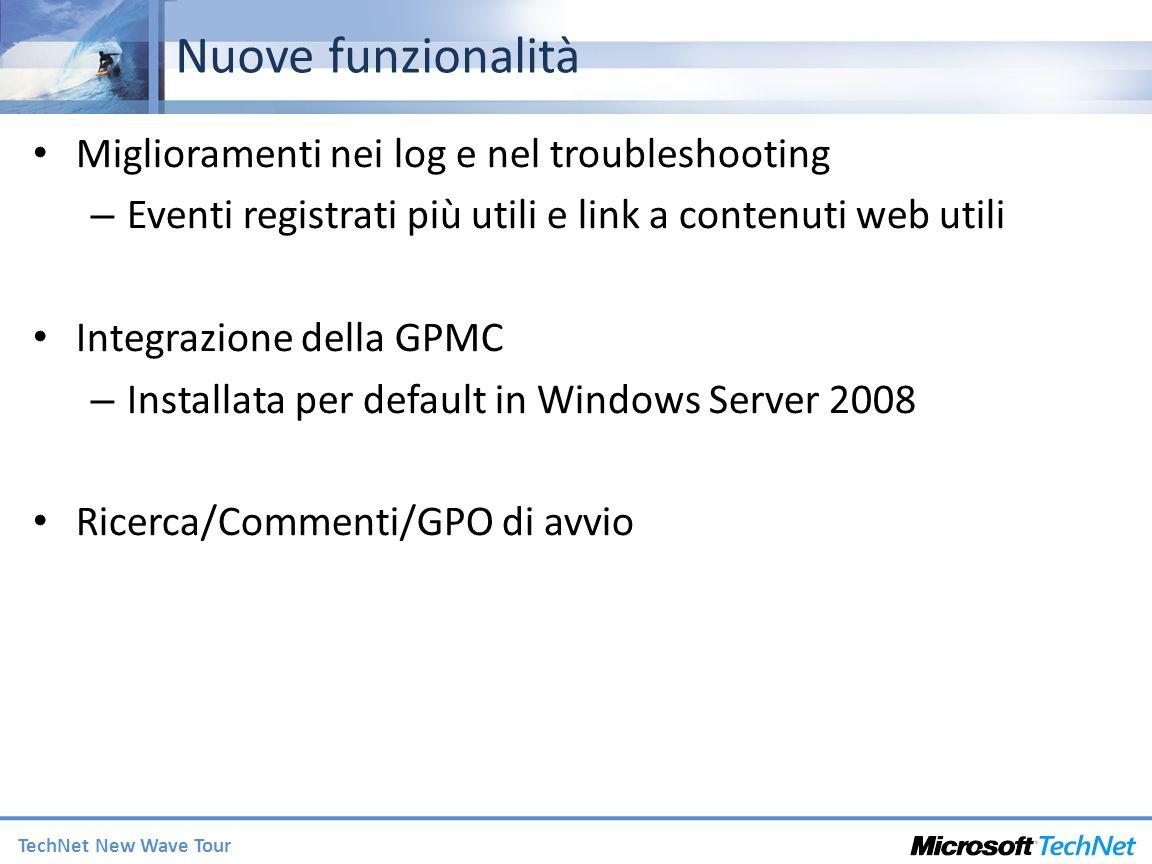Nuove funzionalità Miglioramenti nei log e nel troubleshooting