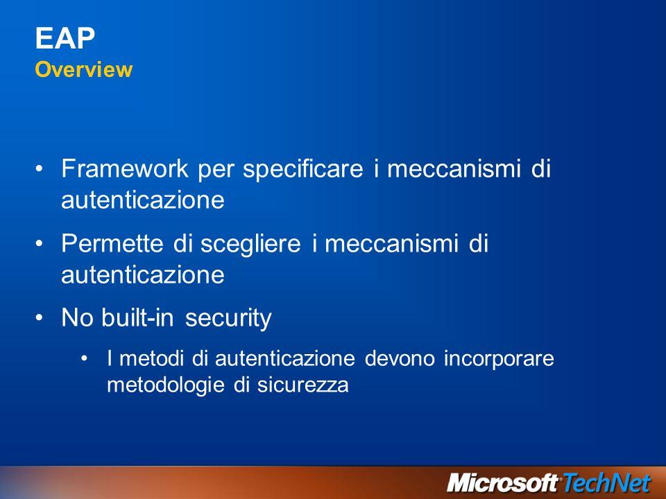 EAP Overview Framework per specificare i meccanismi di autenticazione