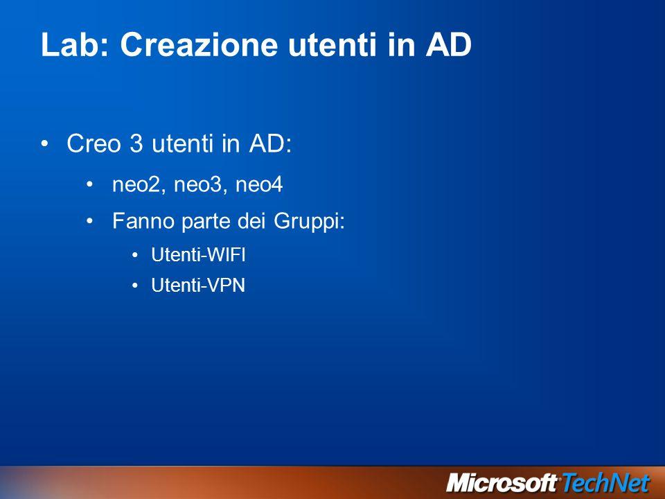 Lab: Creazione utenti in AD