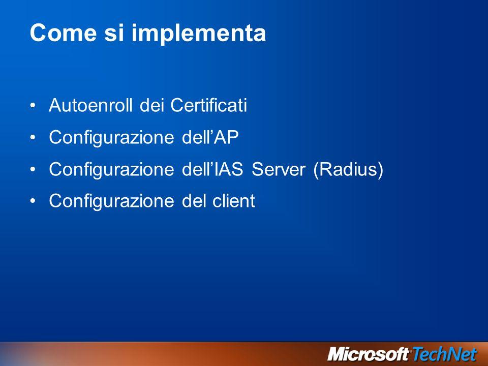 Come si implementa Autoenroll dei Certificati Configurazione dell'AP