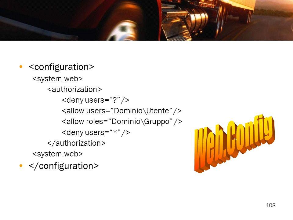 Web.Config <configuration> </configuration>