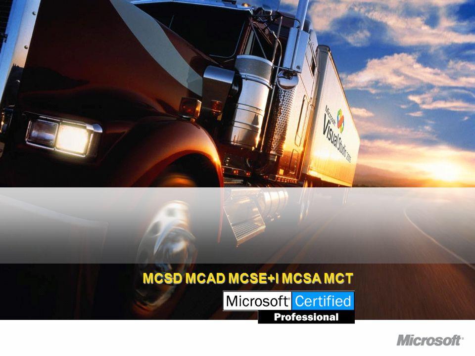 MCSD MCAD MCSE+I MCSA MCT