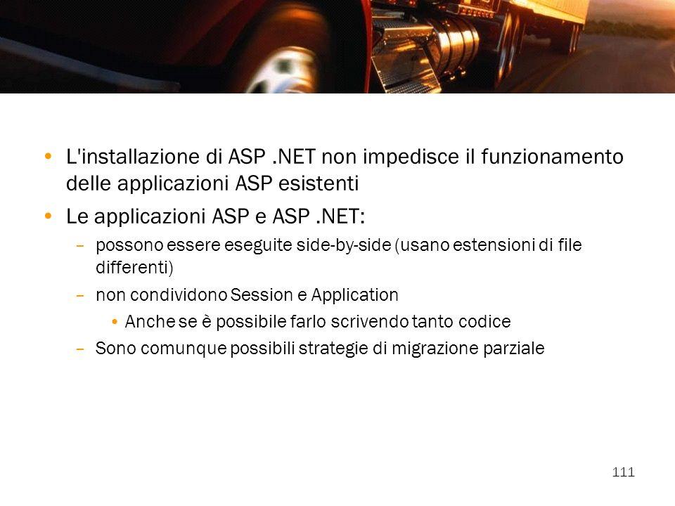 Le applicazioni ASP e ASP .NET: