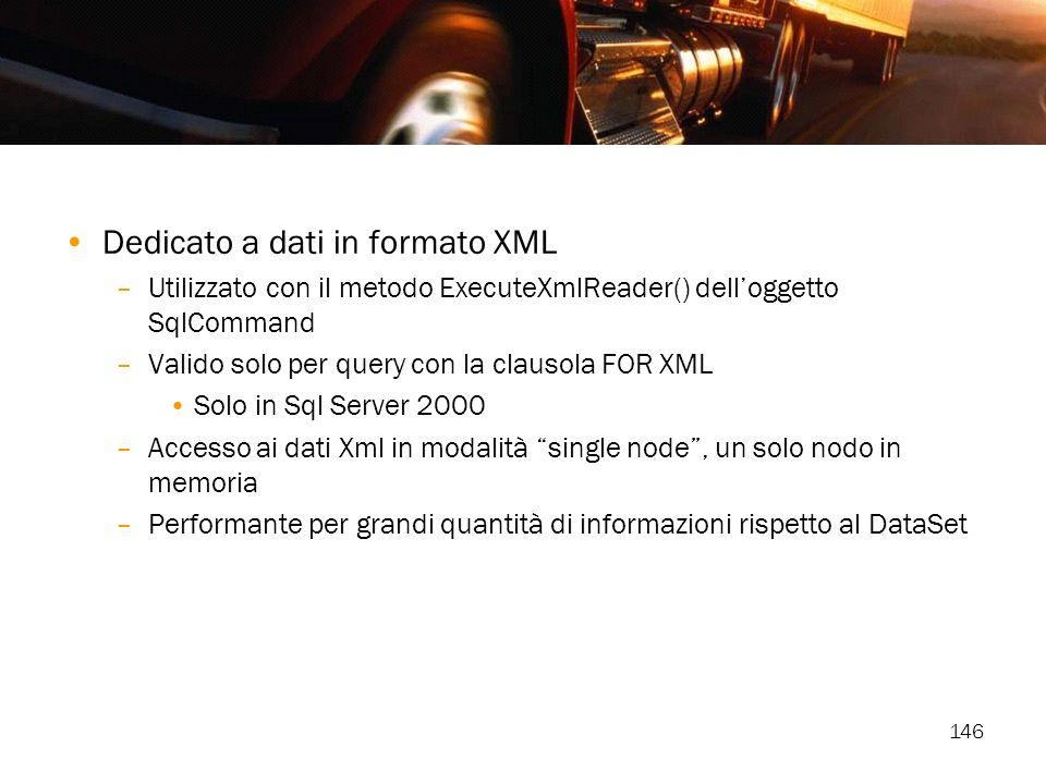 Dedicato a dati in formato XML