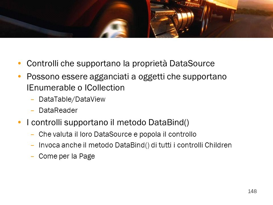 Controlli che supportano la proprietà DataSource