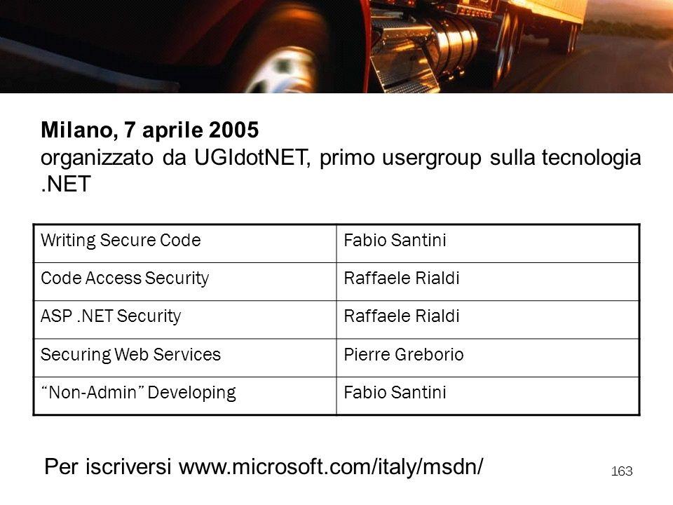 organizzato da UGIdotNET, primo usergroup sulla tecnologia .NET