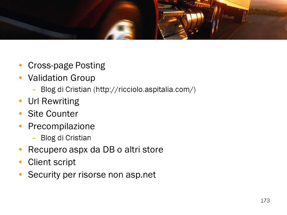 Recupero aspx da DB o altri store Client script