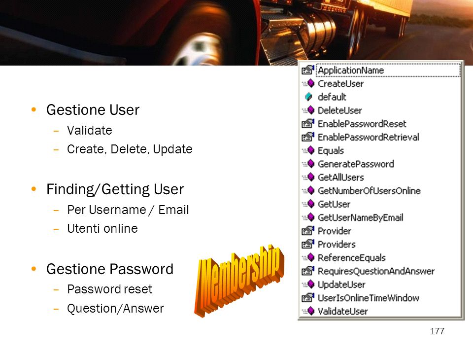/Membership Gestione User Finding/Getting User Gestione Password