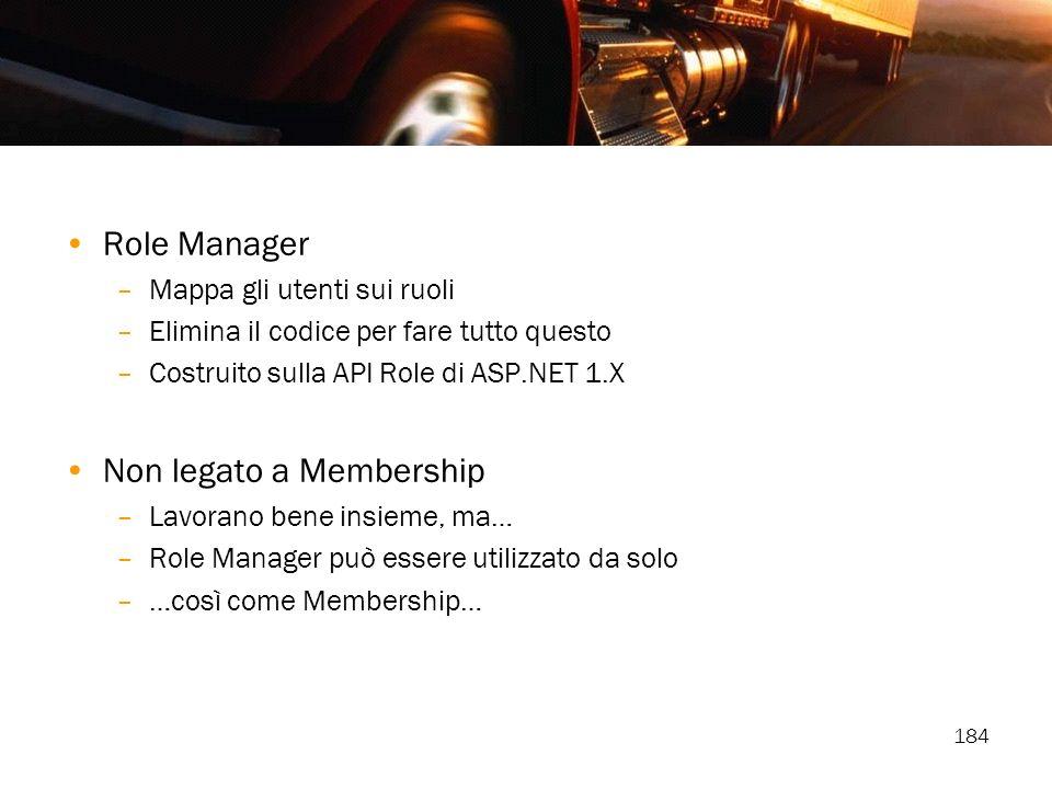 Non legato a Membership