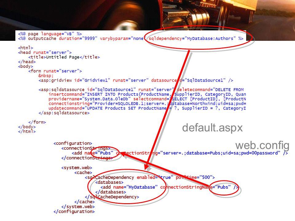 web.config default.aspx
