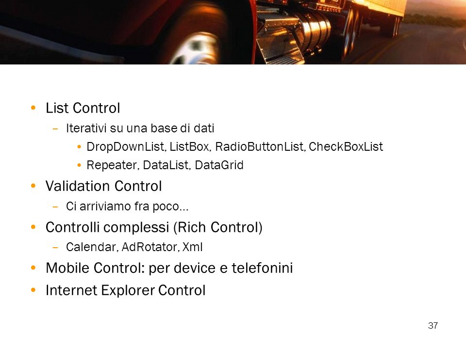 Controlli complessi (Rich Control)