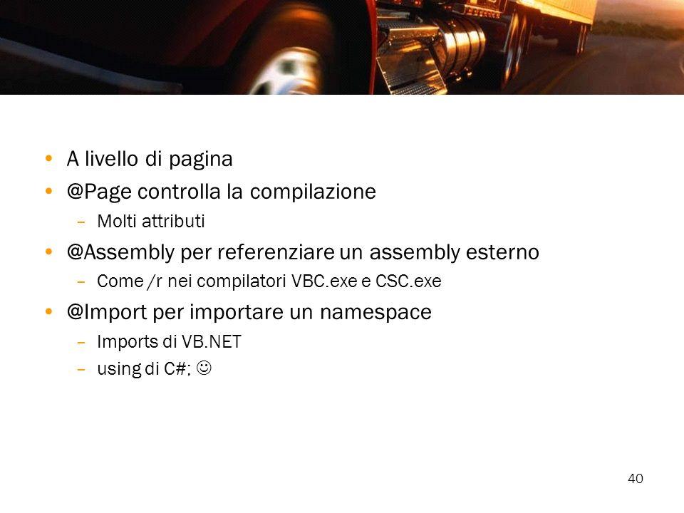@Page controlla la compilazione