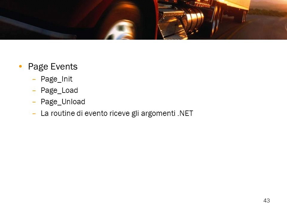 Page Events Page_Init Page_Load Page_Unload