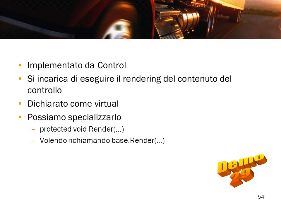 Demo 29 Implementato da Control