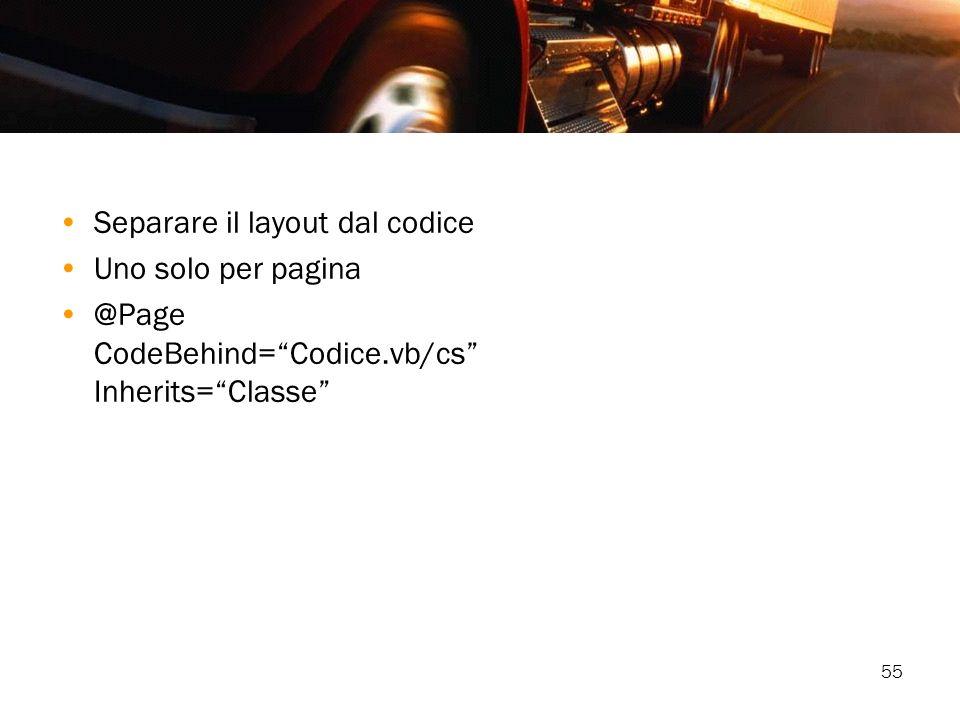 Separare il layout dal codice