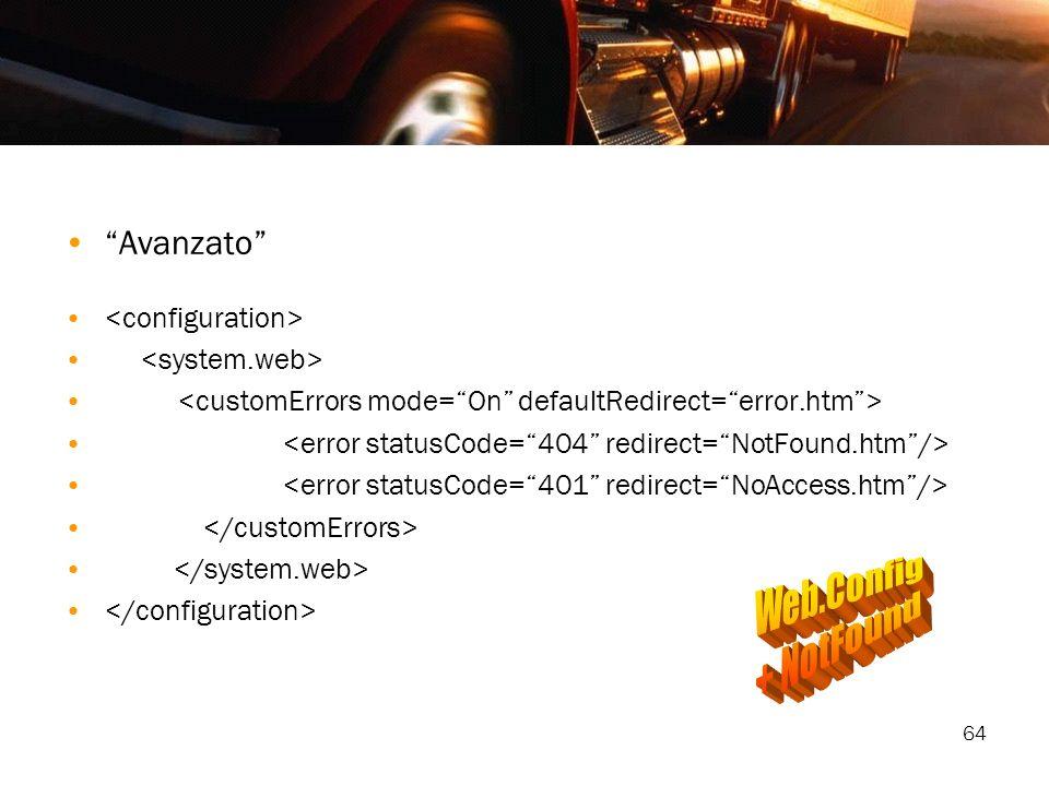 Web.Config + NotFound Avanzato <configuration>
