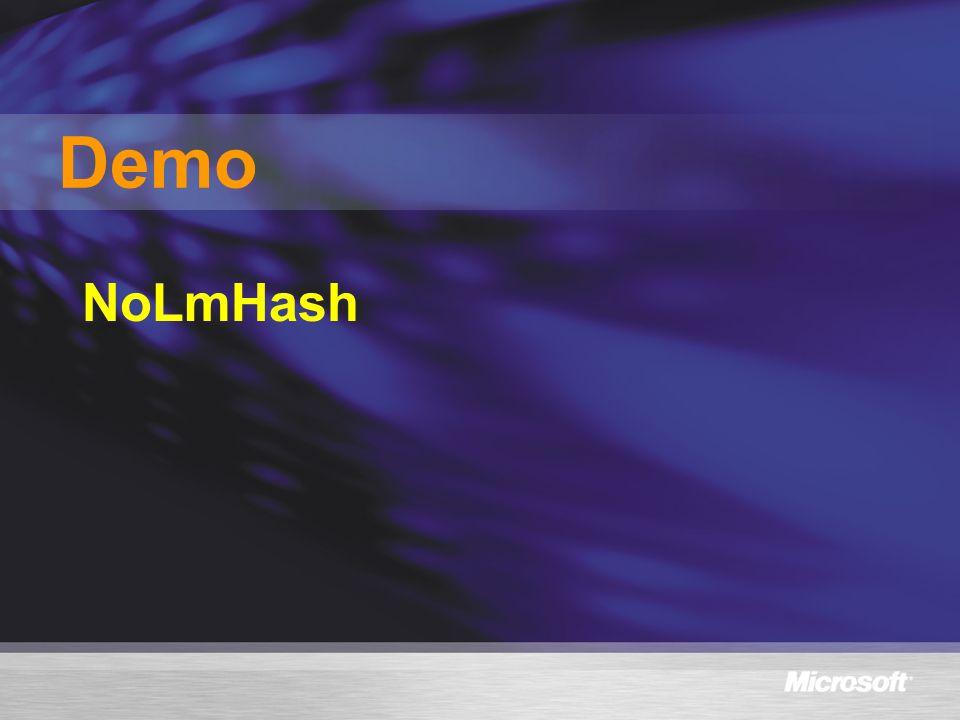 Demo NoLmHash