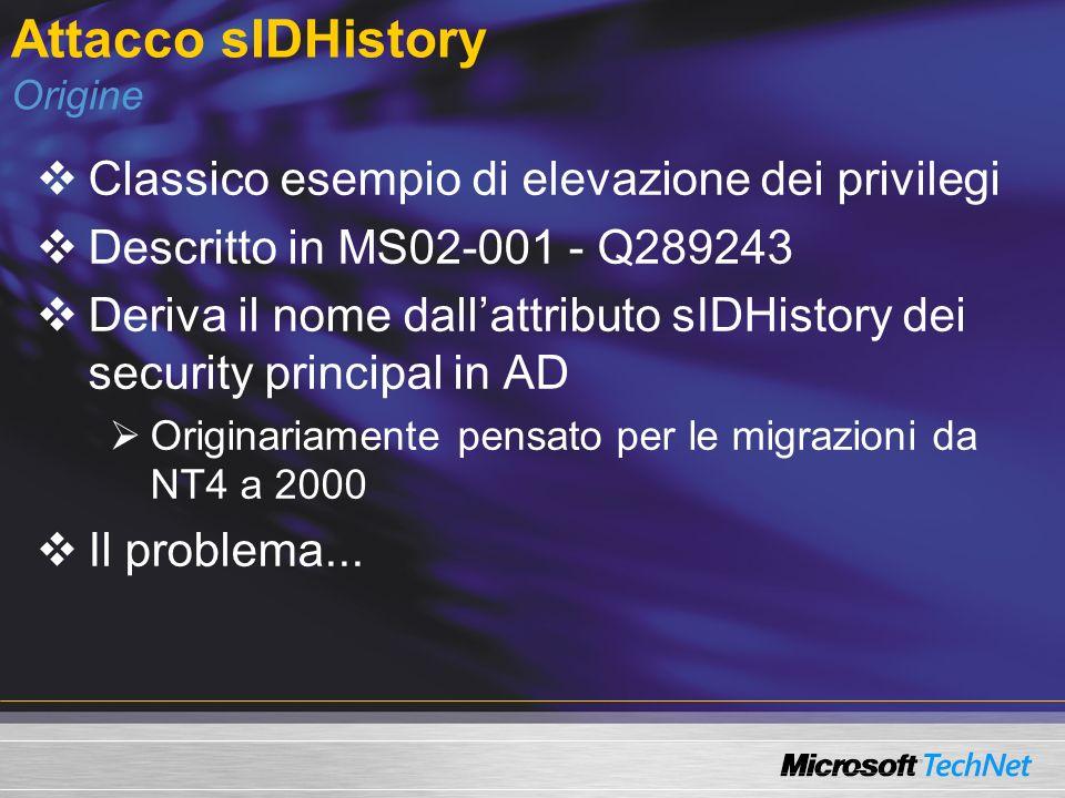 Attacco sIDHistory Origine