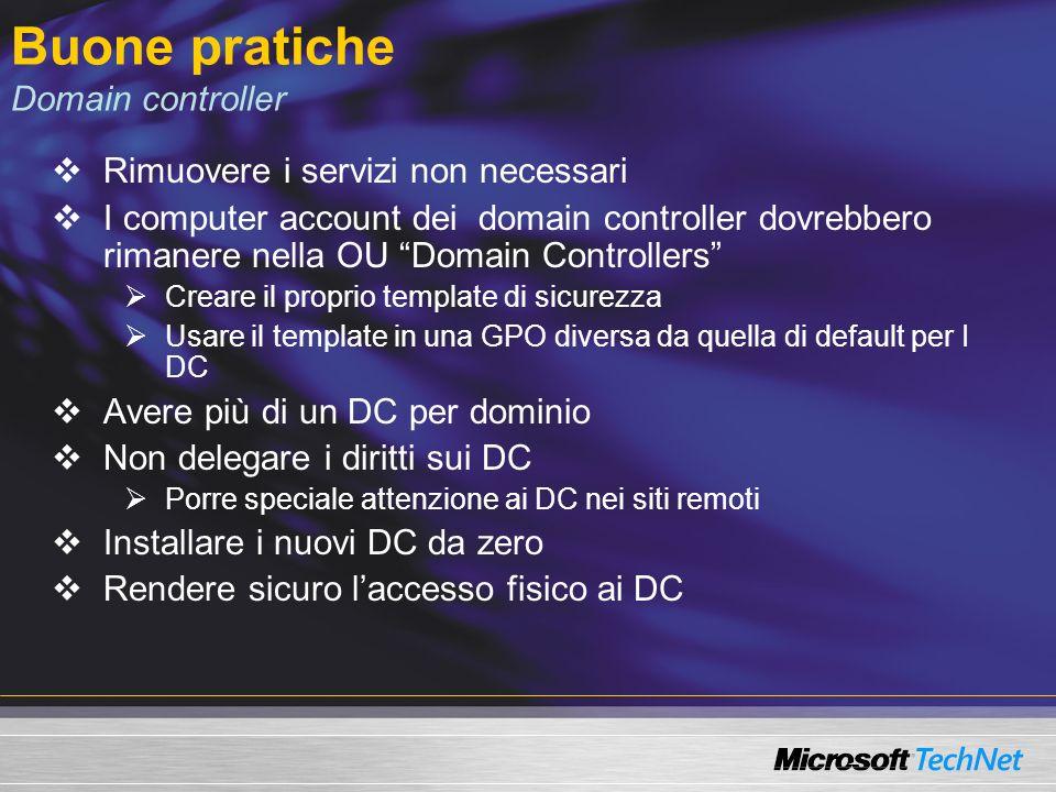Buone pratiche Domain controller