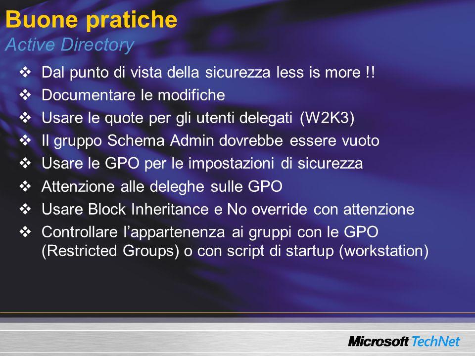 Buone pratiche Active Directory