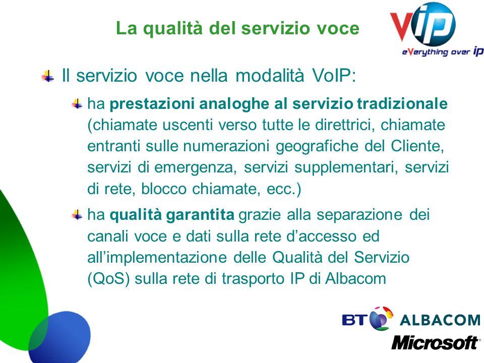 La qualità del servizio voce