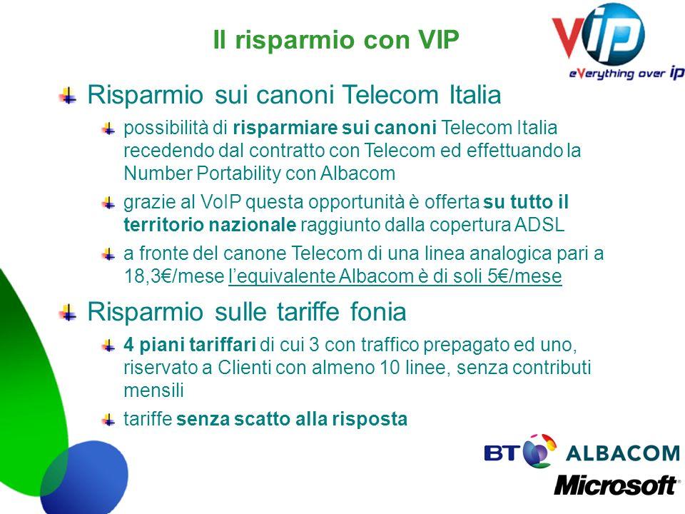 Risparmio sui canoni Telecom Italia