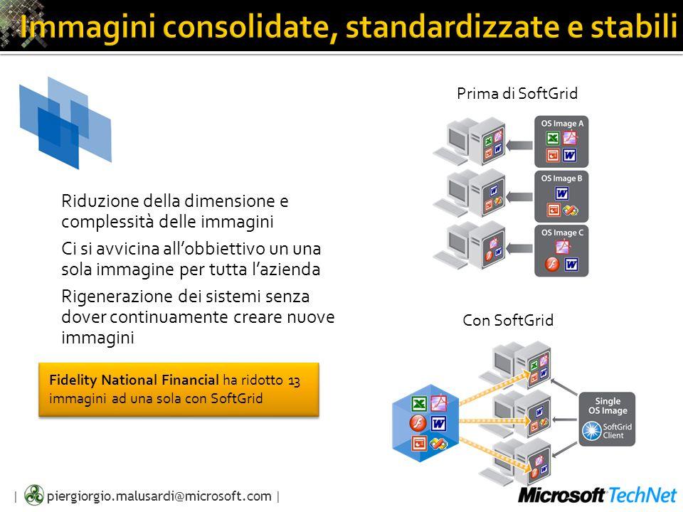 Immagini consolidate, standardizzate e stabili