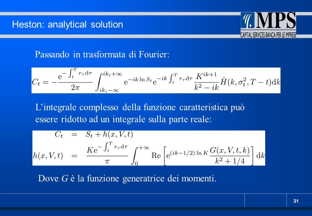 Heston: analytical solution
