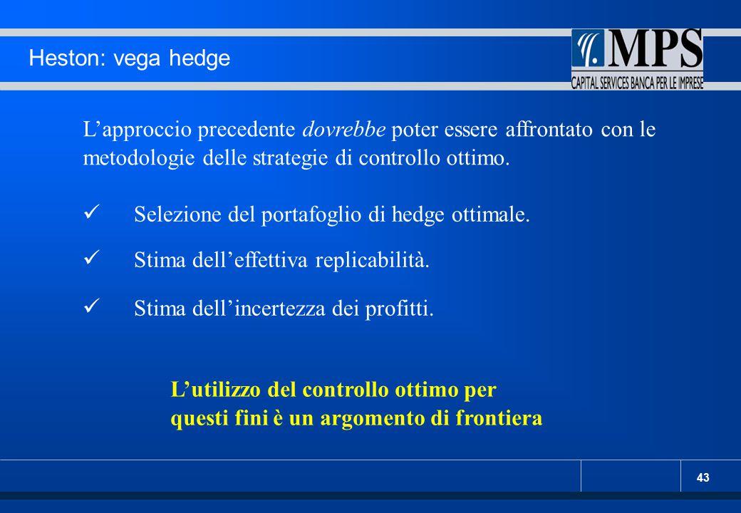 Heston: vega hedge L'approccio precedente dovrebbe poter essere affrontato con le metodologie delle strategie di controllo ottimo.