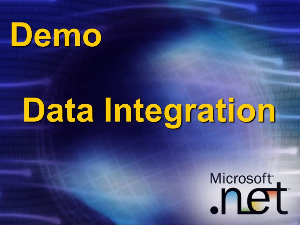 Demo Data Integration