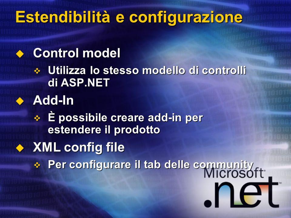 Estendibilità e configurazione