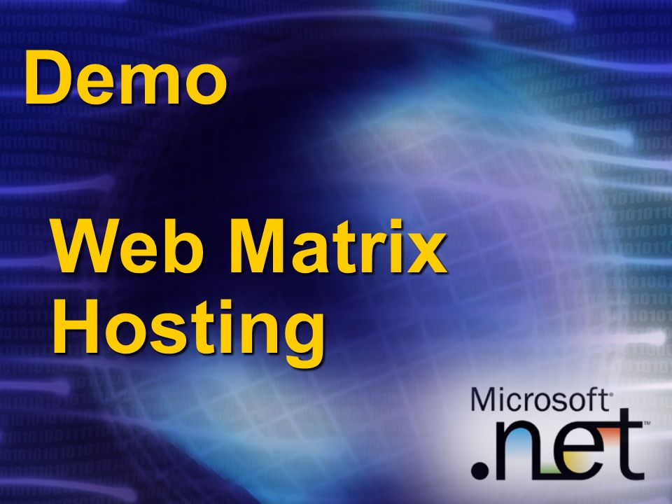 Demo Web Matrix Hosting