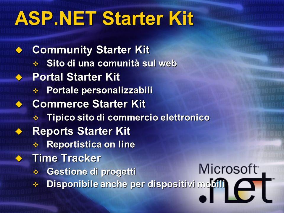ASP.NET Starter Kit Community Starter Kit Portal Starter Kit