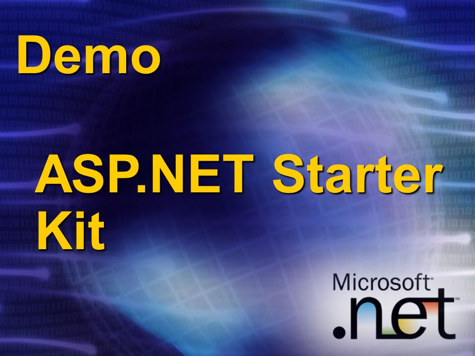 Demo ASP.NET Starter Kit