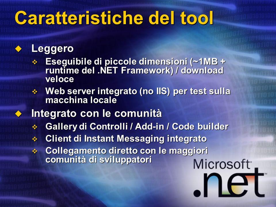 Caratteristiche del tool