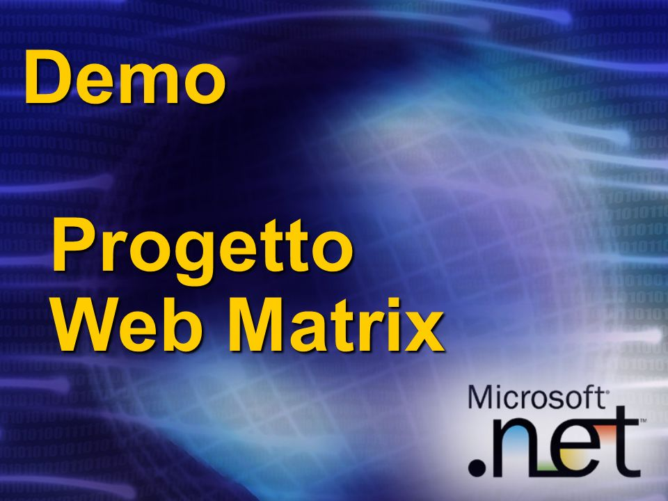 Demo Progetto Web Matrix