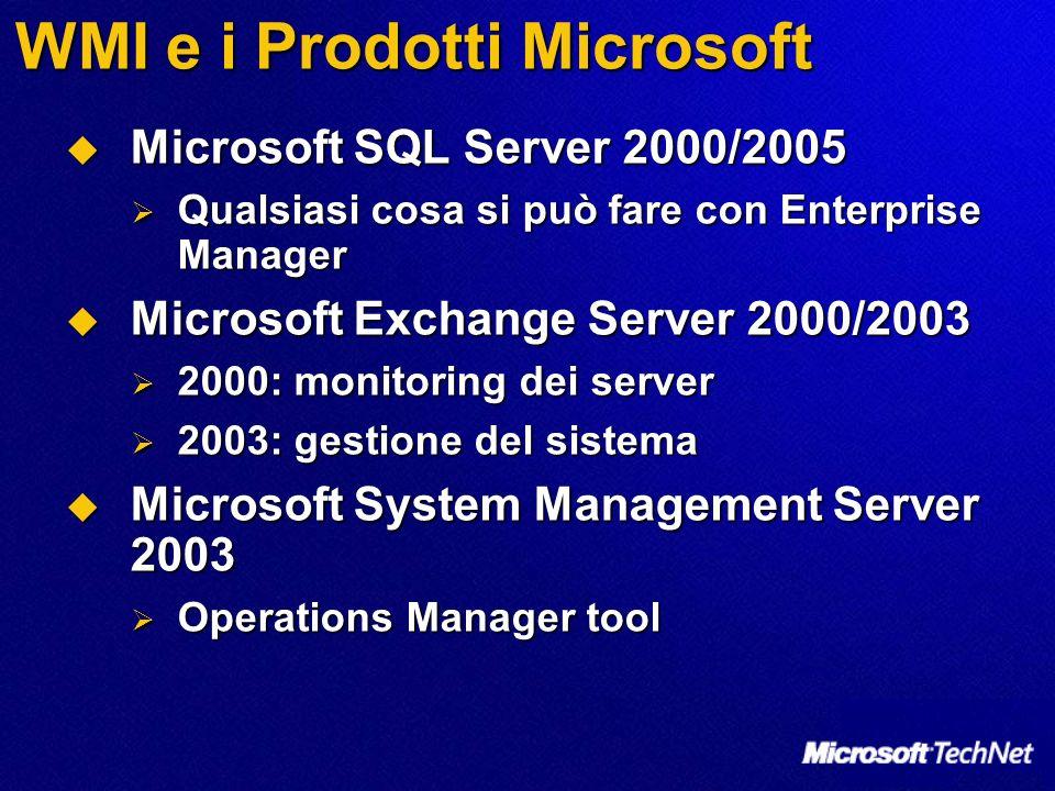 WMI e i Prodotti Microsoft
