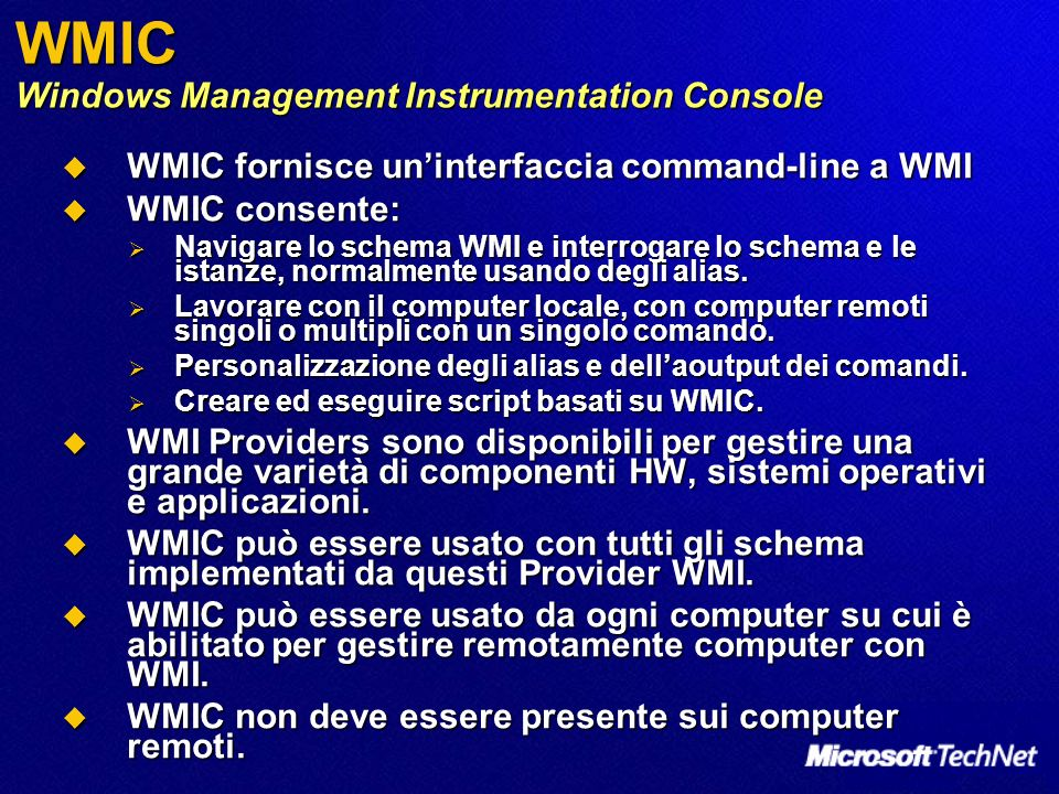 WMIC Windows Management Instrumentation Console
