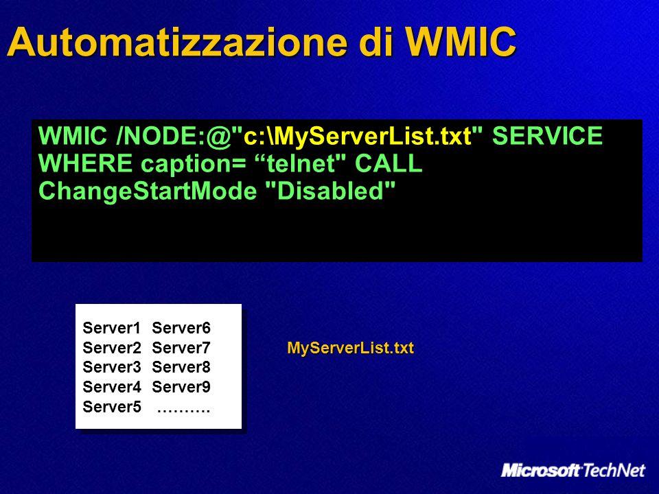 Automatizzazione di WMIC