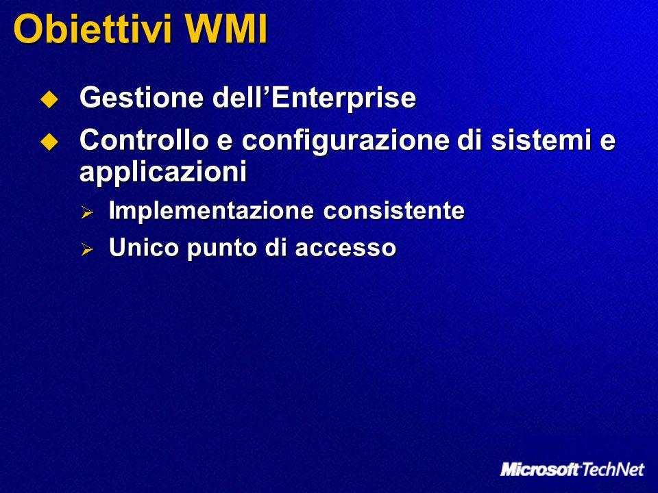 Obiettivi WMI Gestione dell'Enterprise