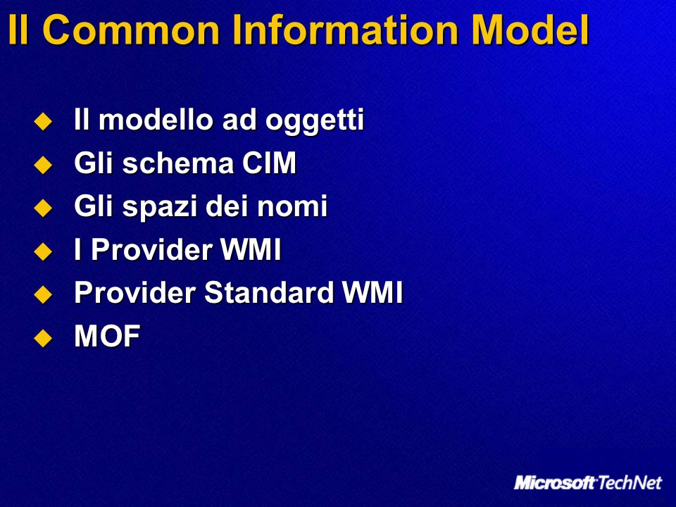 Il Common Information Model