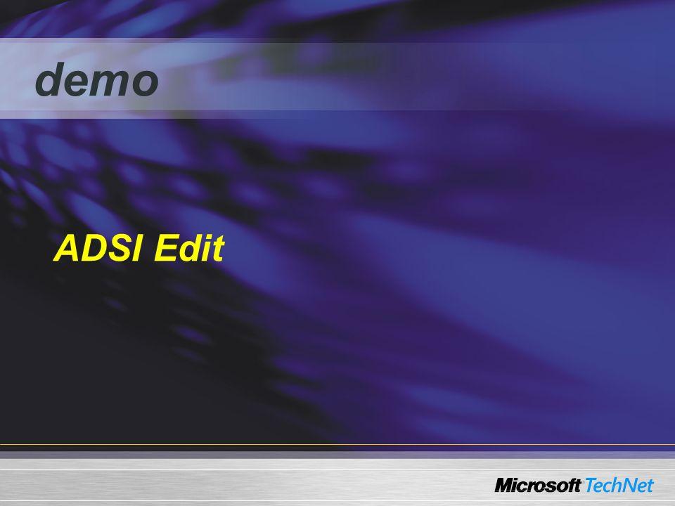 demo ADSI Edit
