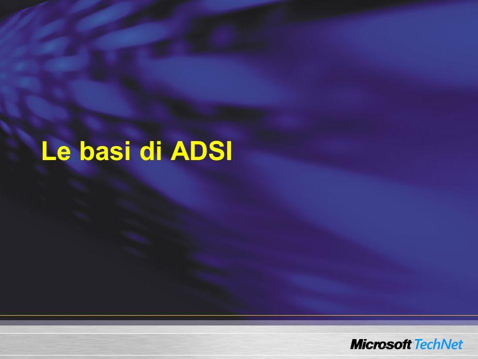 Le basi di ADSI
