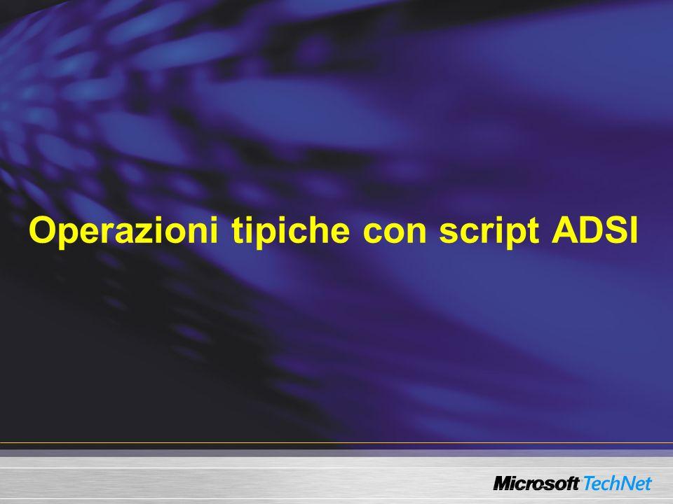 Operazioni tipiche con script ADSI