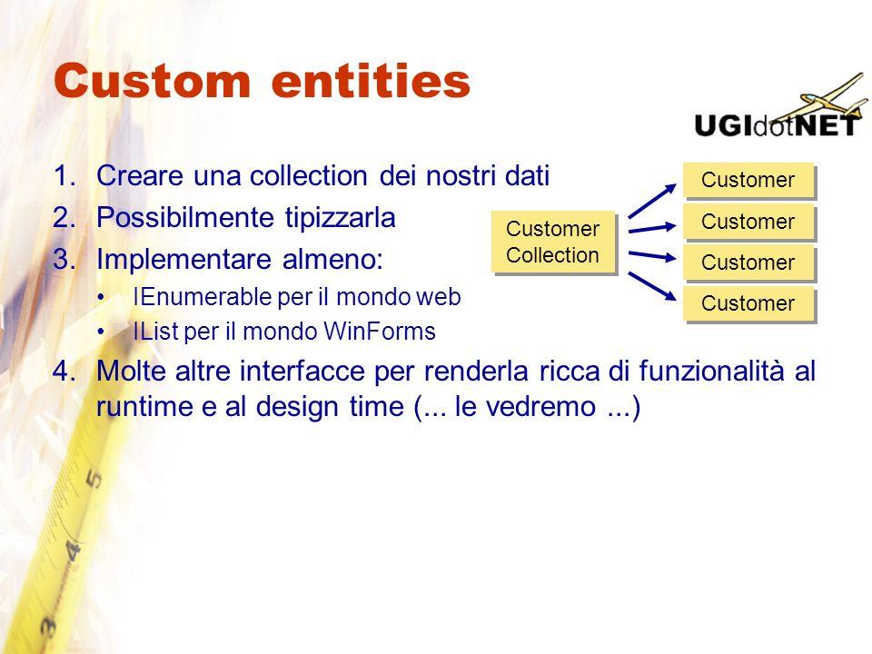 Custom entities Creare una collection dei nostri dati